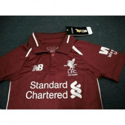 Liverpool size:18-19 home kid kit