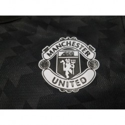 Manchester away black soccer jerseys size:17-18 Player Versio