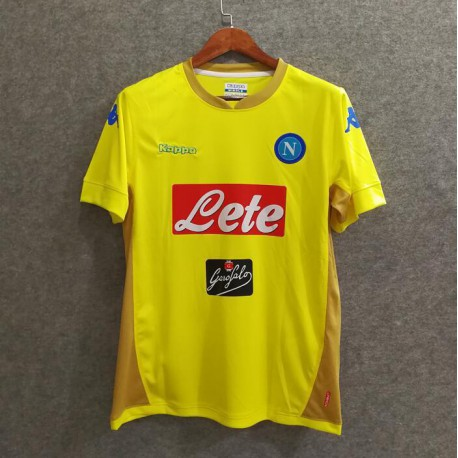 Napoli Jersey For Sale Napoli Jersey 2016 17 Napoli Away Yellow Soccer Jerseys Size 17 18