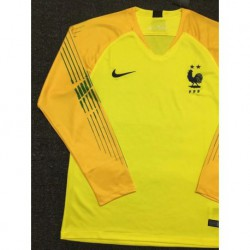 Size:18-19 france yellow long sleeves gk shir