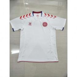Denmark away white soccer jersey 201