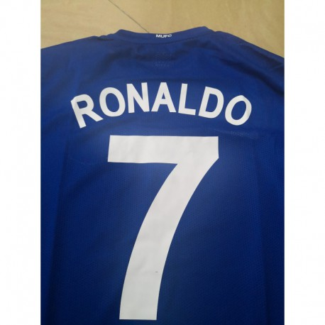 Size:07-08 manutd away blue long sleeve