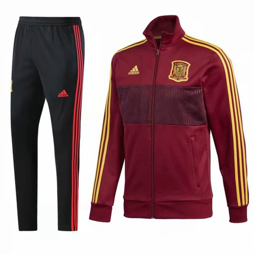 Adidas Superstar Tracksuit Red,Bruce LEE Tracksuit Red,Spain red jacket tracksuit 2018