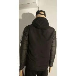 Size:18-19 real madrid black cotton-padded jacke