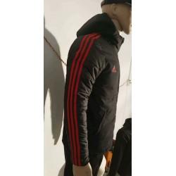 Size:18-19 manchester united black cotton-padded jacke
