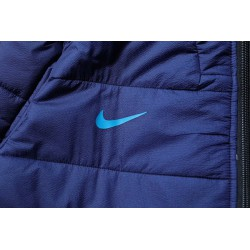 Size:18-19 manchester city blue cotton-padded jacke