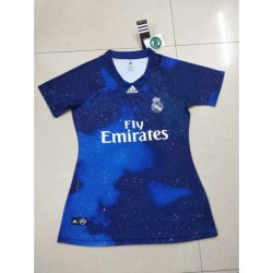 Size:18-19 Real Madrid Blue EA Sports Women Jerse