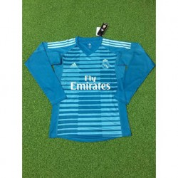 Real madrid blue goalkeeper long sleeve soccer jersey shirt 20 size:18-201