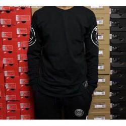 Size:18-19 paris jor-dan black long sleeve cotton t shirt