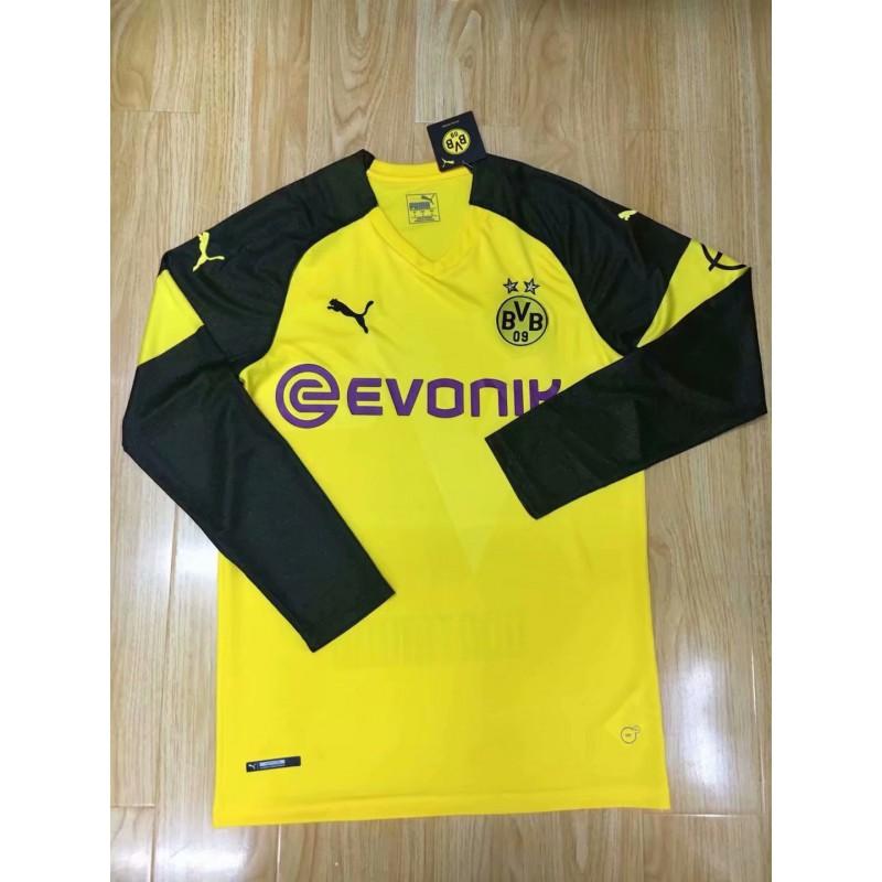 Bvb Dortmund Jersey 2017 Bvb Dortmund Jersey 2015 20 Size 18 2019 Bvb Home Long Sleeve Soccer Jersey Shirt
