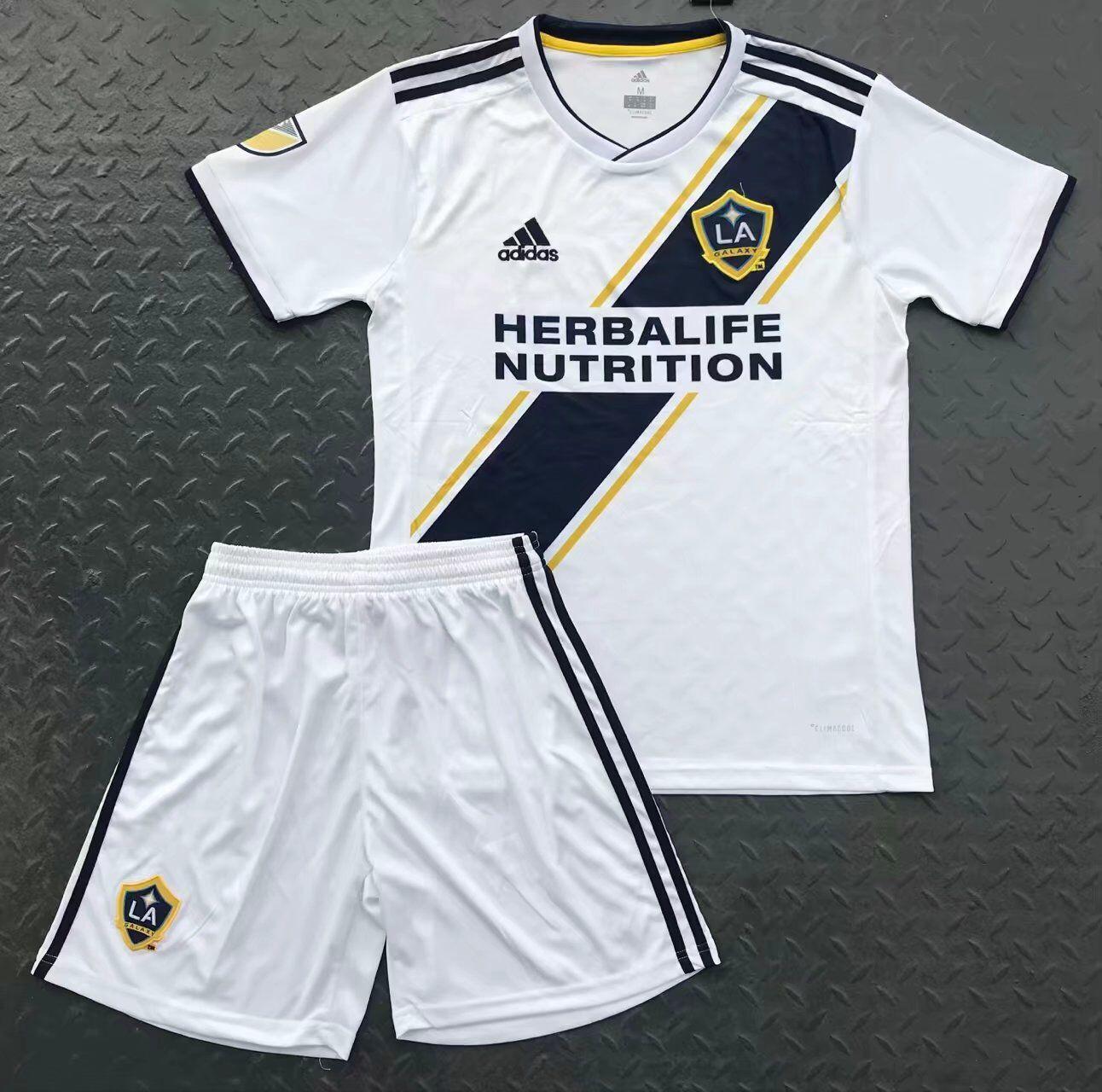 Mls Soccer Jerseys Cheap Adult La Galaxy Home White Uniform 20 Size 18 2019