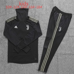 Juventus black kid ucl high collar training suit 20 size:18-201