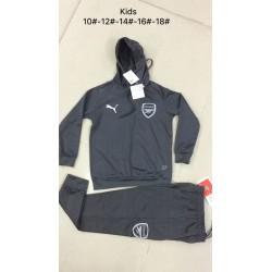 Kids arsenal gray hoodie suit 20 size:18-201