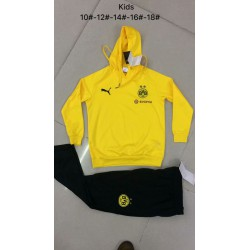 Kids dortmund yellow hoodie suit 20 size:18-201