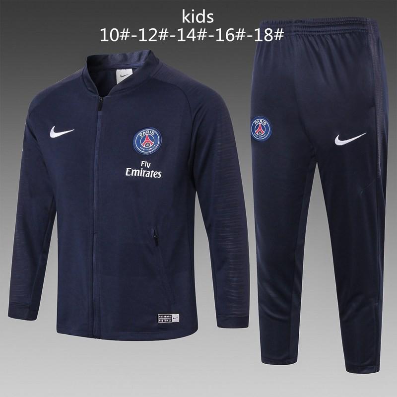 Size:18-19 paris nike blue jacket tracksuit