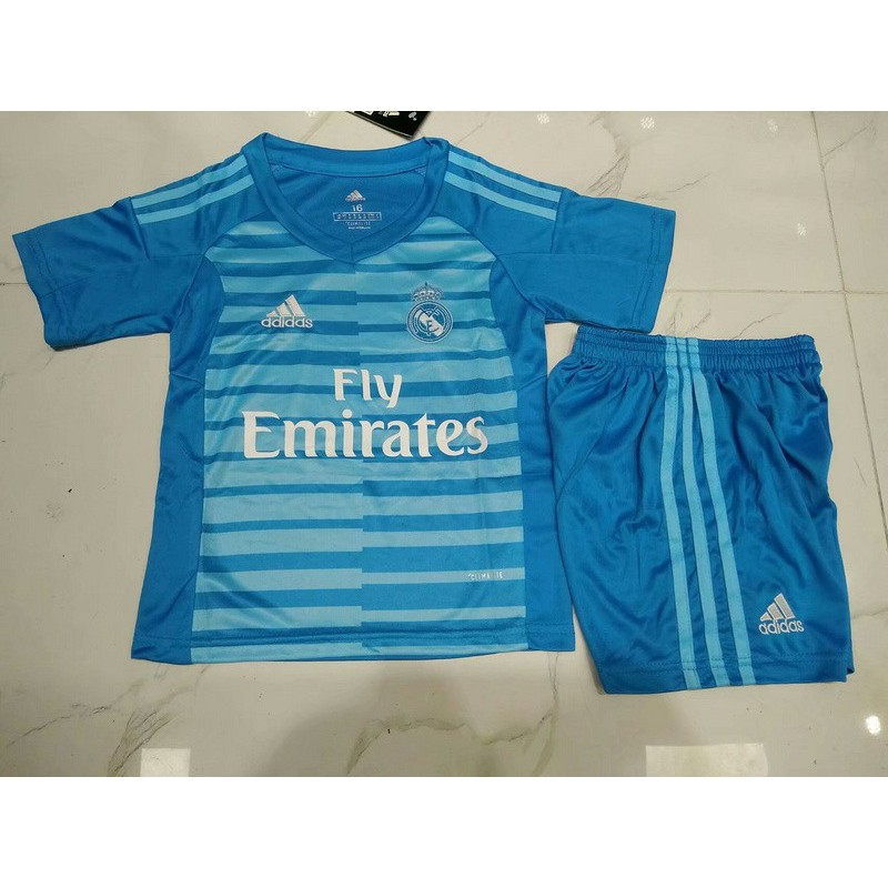 new concept f5f65 efda6 Real Madrid Girl Fans,Real Madrid Girl Jersey,Real Madrid home blue  goalkeeper for kids Size:18-19