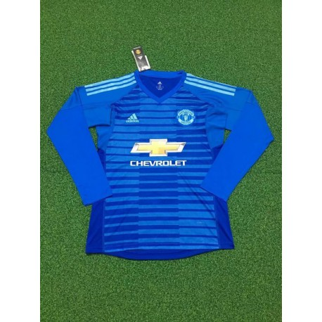 Manutd blue long sleeves gk shirt size:18-1