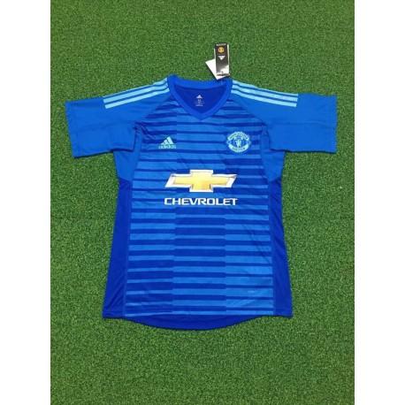 Manutd blue gk shirt size:18-1