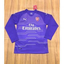 Arsenal purple long sleeves gk jerseys size:18-1