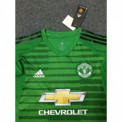 Man united green goalkeeper soccer jersey shirt 20 size:18-201